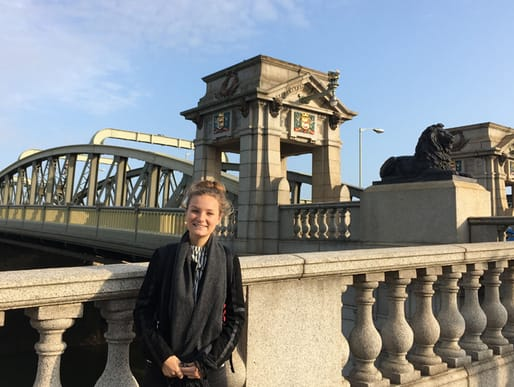 Aoife at the Old Bridge in Rochester