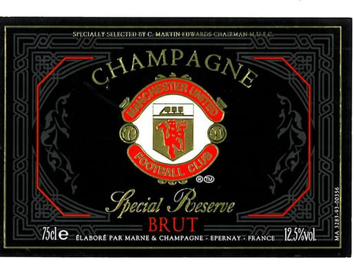 The Manchester United champagne label